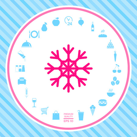 Snowflake icon . Signs and symbols - graphic elements for your design Illustration