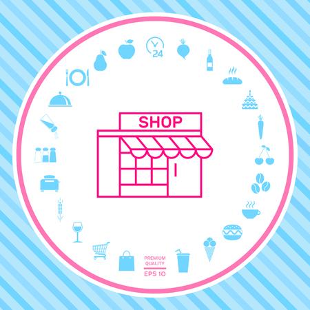 Store icon symbol Illustration