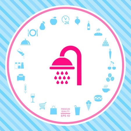 Shower icon . Signs and symbols - graphic elements for your design