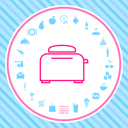 Toaster Oven linear icon Stock Photo