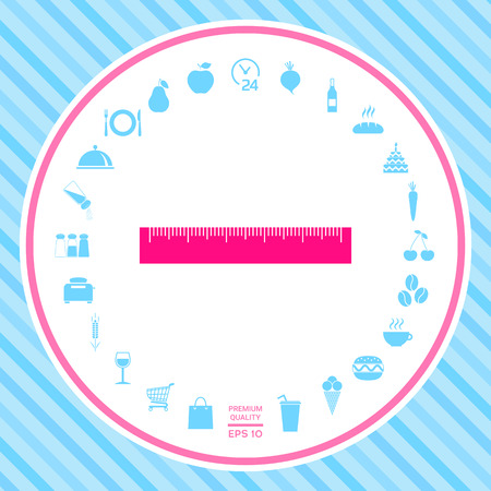 The ruler icon . Signs and symbols - graphic elements for your design