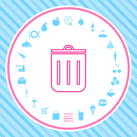 Trash can, icon . Signs and symbols - graphic elements for your design Illustration