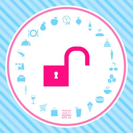 Unlock icon symbol