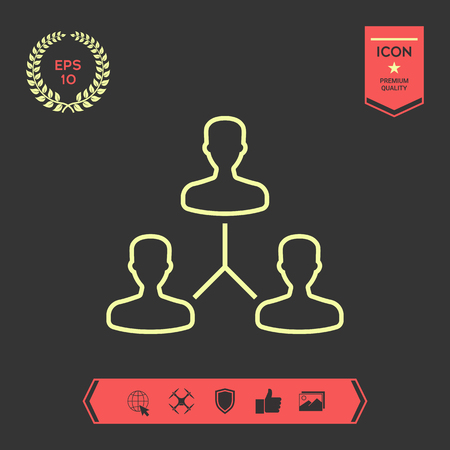 Human connection symbol. Line icon . Signs and symbols - graphic elements for your design