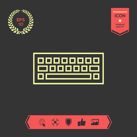 Keyboard icon symbol . Graphic elements for your design