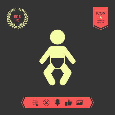 Baby symbol icon. Element for your design . Signs and symbols - graphic elements for your design
