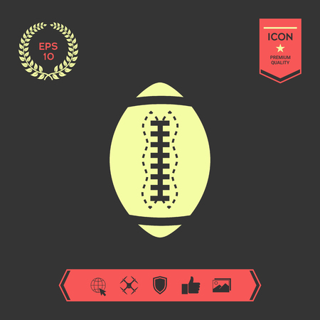American Football Ball icon. Element for your design . Signs and symbols - graphic elements for your design Vettoriali