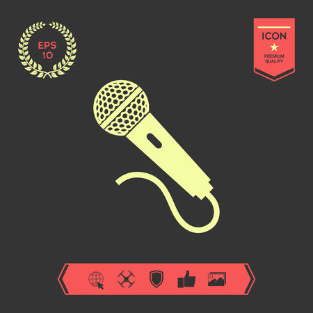 Microphone icon symbol . Graphic elements for your design