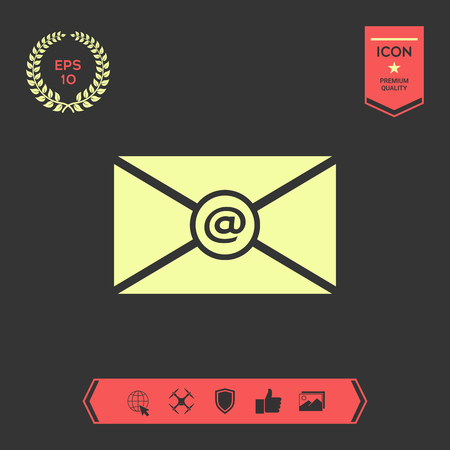 Email symbol icon . Graphic elements for your design