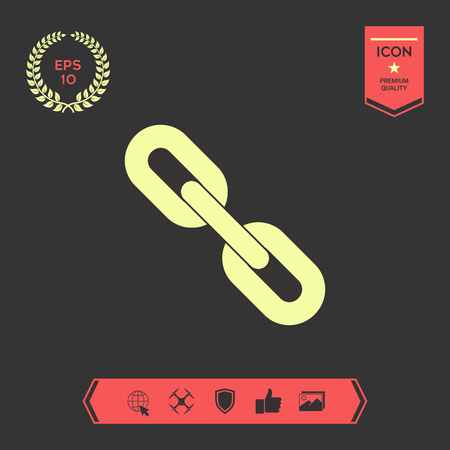 Link chain symbol icon . Signs and symbols - graphic elements for your design