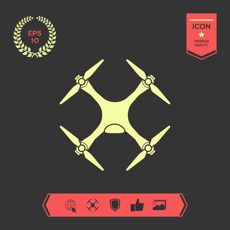 Quadcopter, drone icon . Signs and symbols - graphic elements for your design
