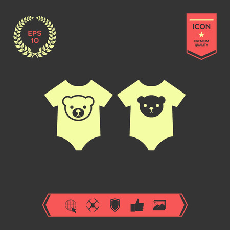 Baby rompers icon. Element for your design . Signs and symbols - graphic elements for your design Ilustracja
