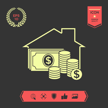 Home insurance icon . Signs and symbols - graphic elements for your design Ilustrace