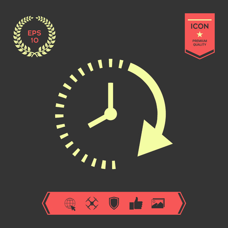 Passage of time icon . Signs and symbols - graphic elements for your design Stock Photo