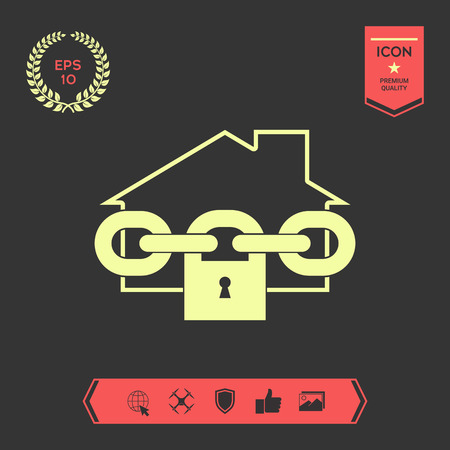 Home lock icon . Graphic elements for your design