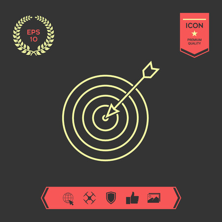 Target, goal line icon . Signs and symbols - graphic elements for your design