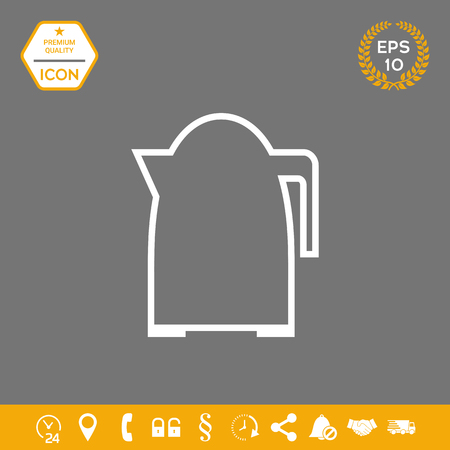 Kitchen Kettle linear icon . Signs and symbols - graphic elements for your design