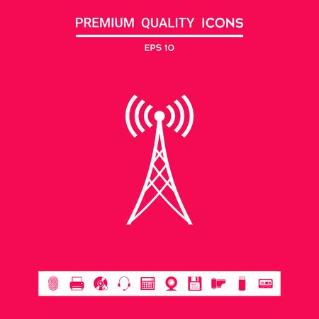 Antenna icon symbol. Element for your design . Signs and symbols - graphic elements for your design