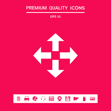 Move icon . Signs and symbols - graphic elements for your design