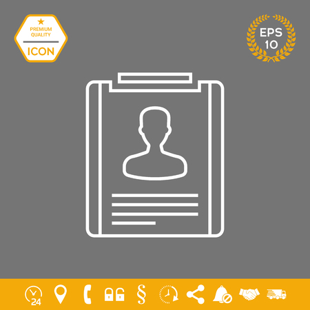 Resume line icon . Signs and symbols - graphic elements for your design