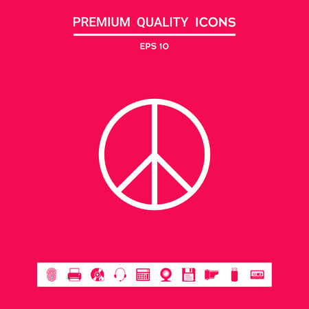 Peace sign . Signs and symbols - graphic elements for your design