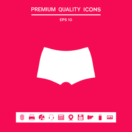 Men underwear, the silhouette. Menu item in the web design Banque d'images - 107440324