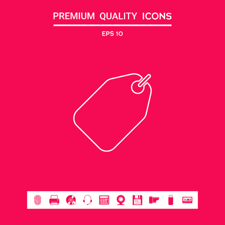 Tag line icon . Signs and symbols - graphic elements for your design