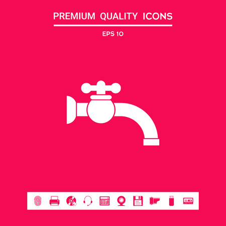 Faucet icon . Signs and symbols - graphic elements for your design Stock Photo