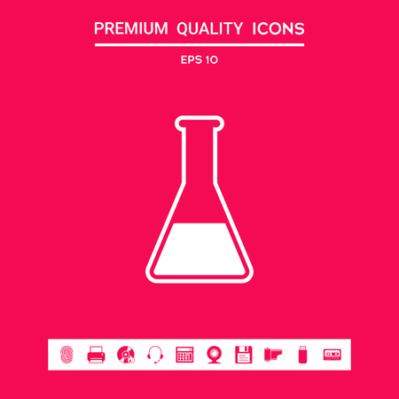 Test-tube symbol . Signs and symbols - graphic elements for your design