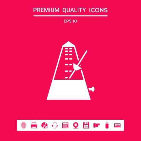 Metronom-Symbol. Zeichen und Symbole - grafische Elemente für Ihr Design Vektorgrafik