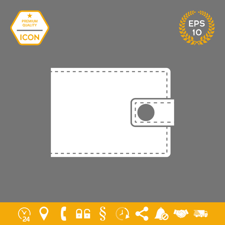 Wallet icon . Signs and symbols - graphic elements for your design