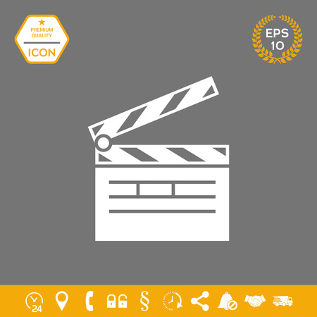 Clapperboard icon. Element for your design . Signs and symbols - graphic elements for your design