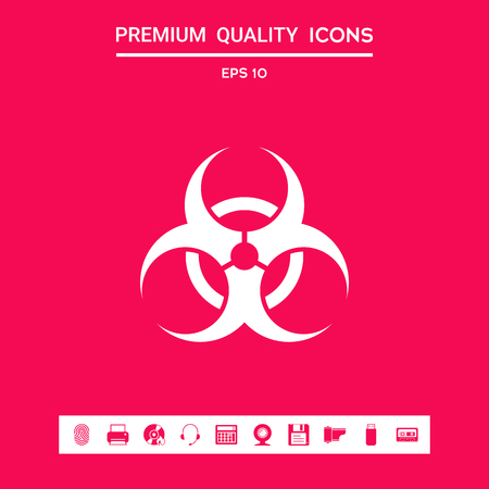 Biological hazard sign. Element for your design . Signs and symbols - graphic elements for your design