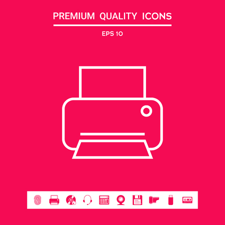 Print line icon . Signs and symbols - graphic elements for your design Stock Photo