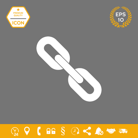 Link chain symbol icon . Signs and symbols - graphic elements for your design Stock Photo
