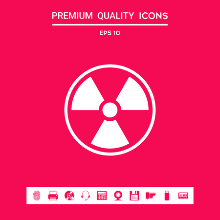 Ionizing radiation icon . Signs and symbols - graphic elements for your design Stock Photo
