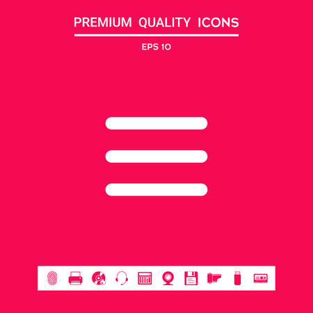 Menu Icon . Signs and symbols - graphic elements for your design  イラスト・ベクター素材