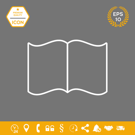 Open book symbol icon . Signs and symbols - graphic elements for your design Vectores