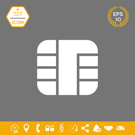 Chip of credit card icon. Element for your design . Signs and symbols - graphic elements for your design