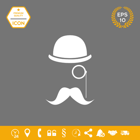 Abstract hipster silhouette . Graphic elements for your design Illustration