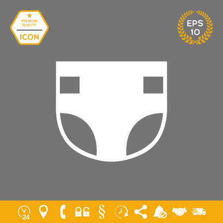 Nappy icon . Signs and symbols - graphic elements for your design Illustration