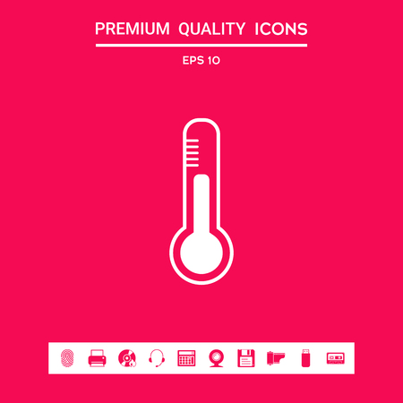 Thermometer icon. . Signs and symbols - graphic elements for your design Illustration
