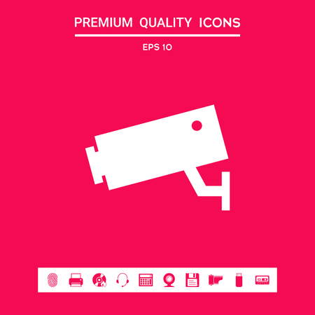 Security Camera icon . Signs and symbols - graphic elements for your design