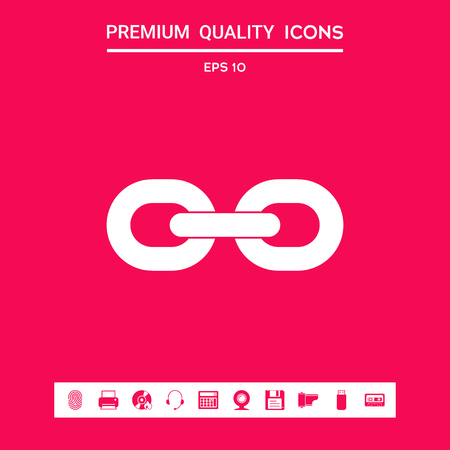 Link chain icon . Signs and symbols - graphic elements for your design Vector Illustration