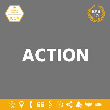 Action button symbol. Element for your design. . Signs and symbols - graphic elements for your design Illustration
