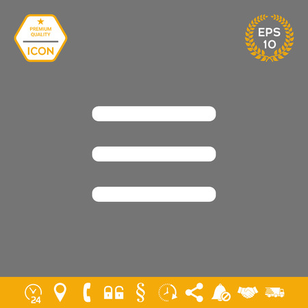 Menu Icon . Signs and symbols - graphic elements for your design 写真素材 - 110517067