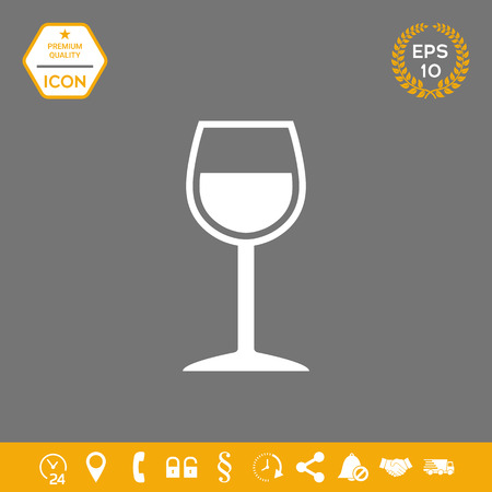 Wineglass symbol icon . Graphic elements for your design