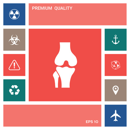 Knee joint icon . Elements for your design