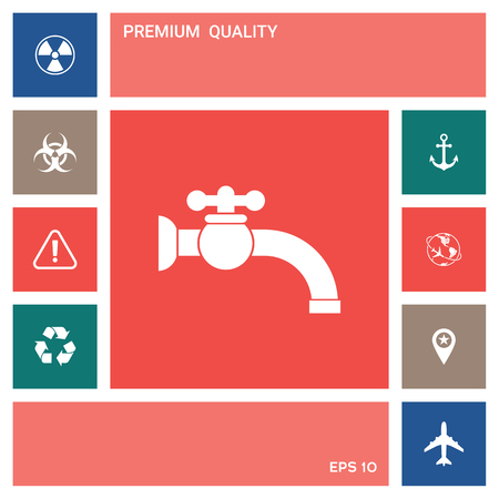 Faucet icon symbol . Elements for your design