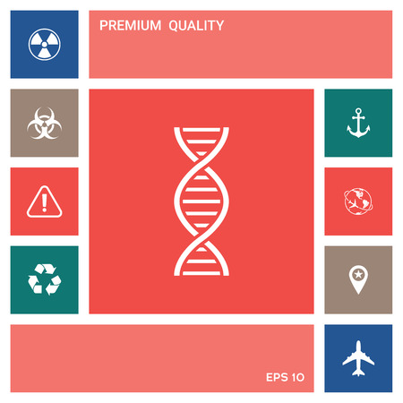 DNA symbol icon . Elements for your design